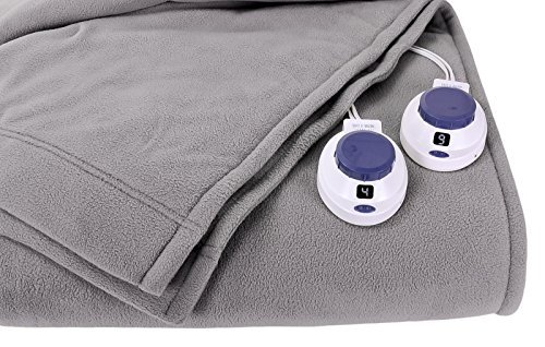 Soft Heat Luxury Micro-Fleece Low-Voltage Electric Heated Blanket, Full