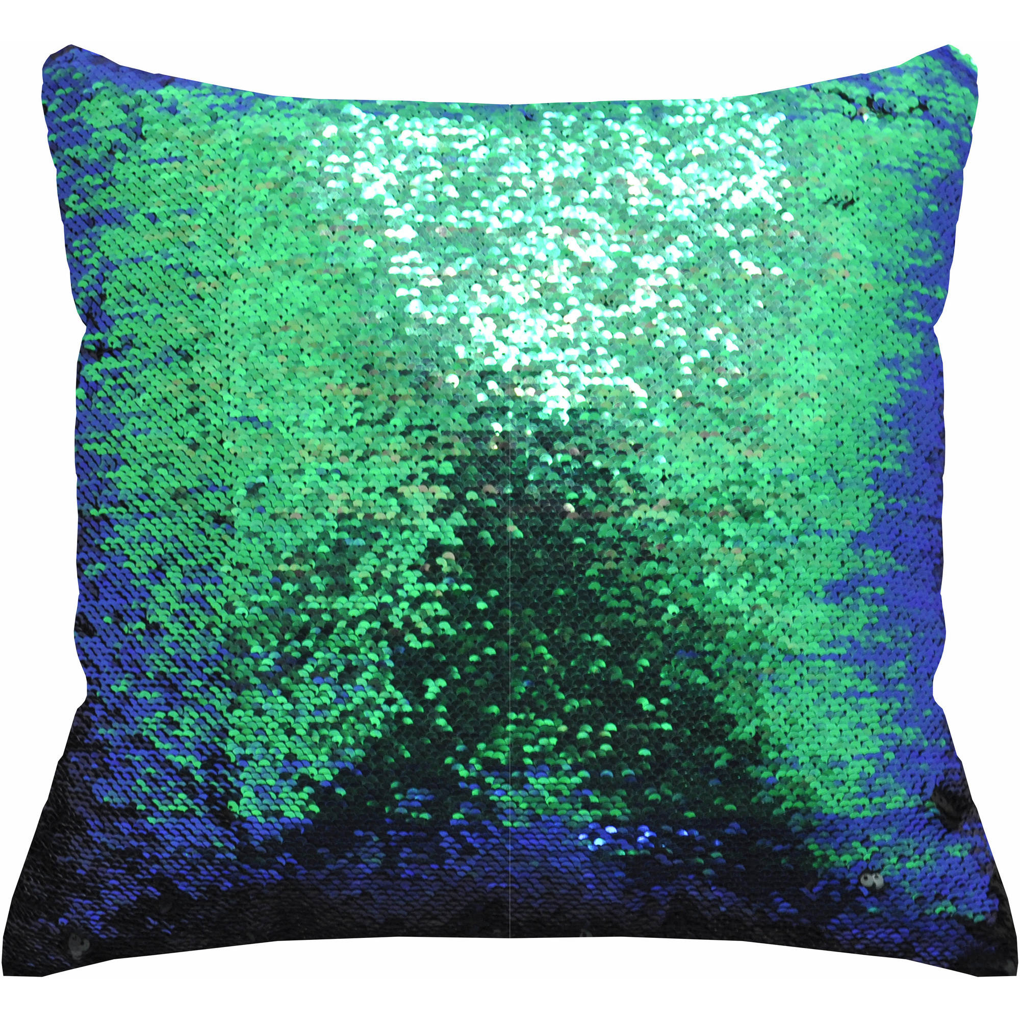 "Mainstays Reversible 17"" x 17"" Sequin Mermaid Decorative Pillow"