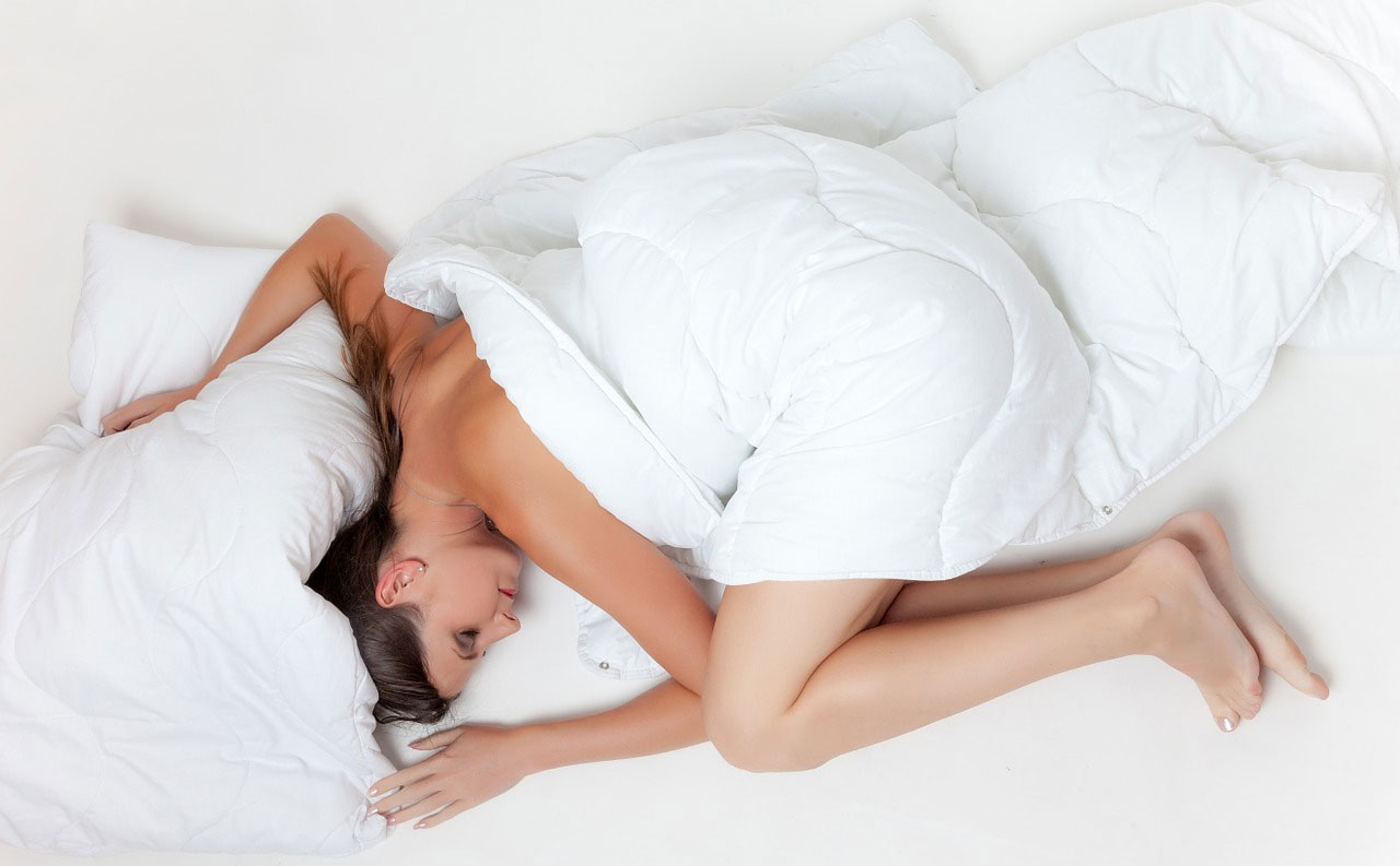 woman comfortable on mattress